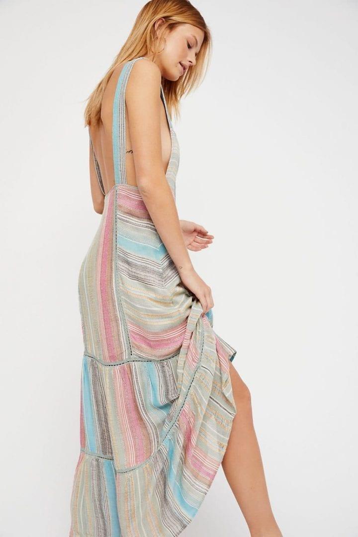 FREE PEOPLE Anika Maxi Multi Combo Dress