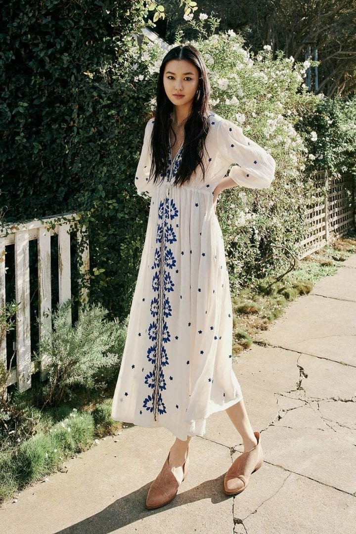 4d3e9e2699c FREE PEOPLE Embroidered Fable Canvas White Dress - We Select Dresses