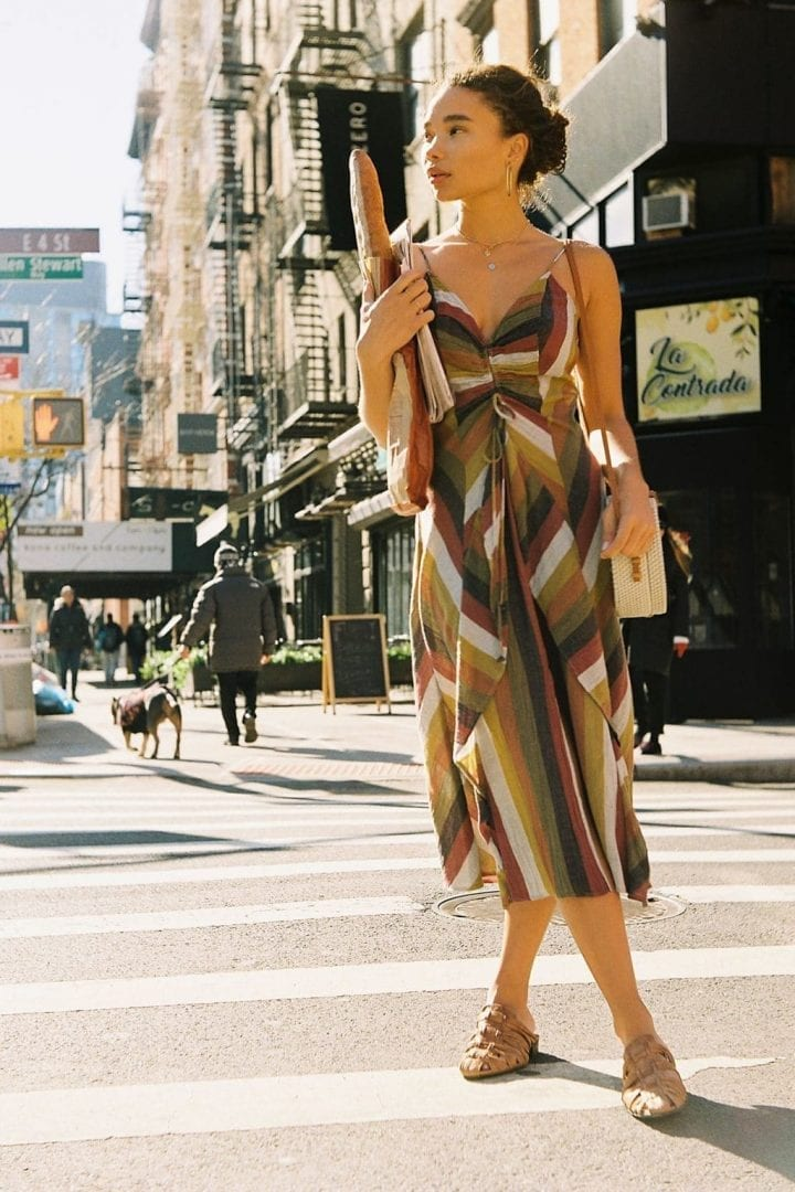 FREE PEOPLE In The Sun Midi Multi Combo Dress