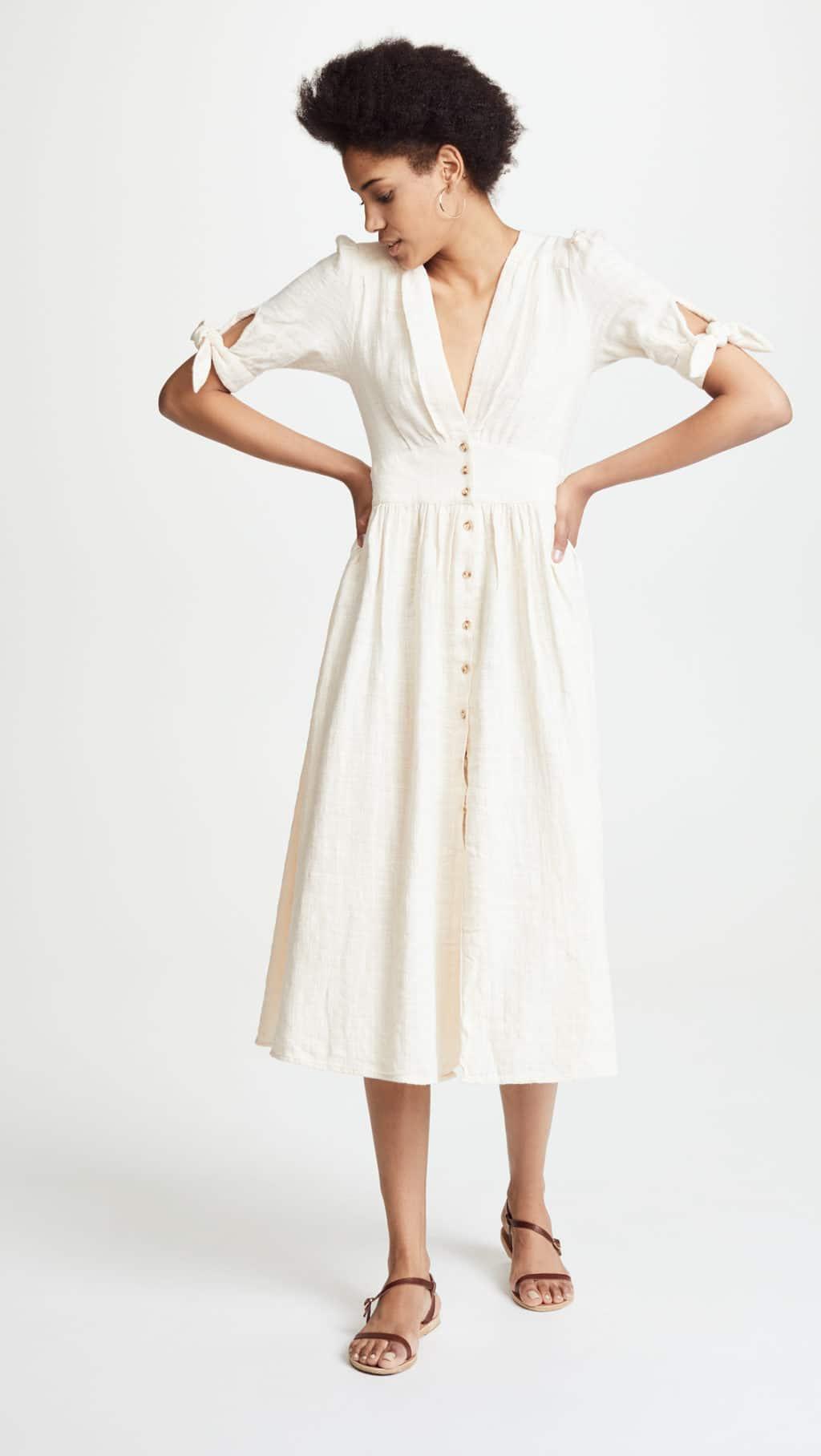 FREE PEOPLE Love Of My Life Ivory Dress