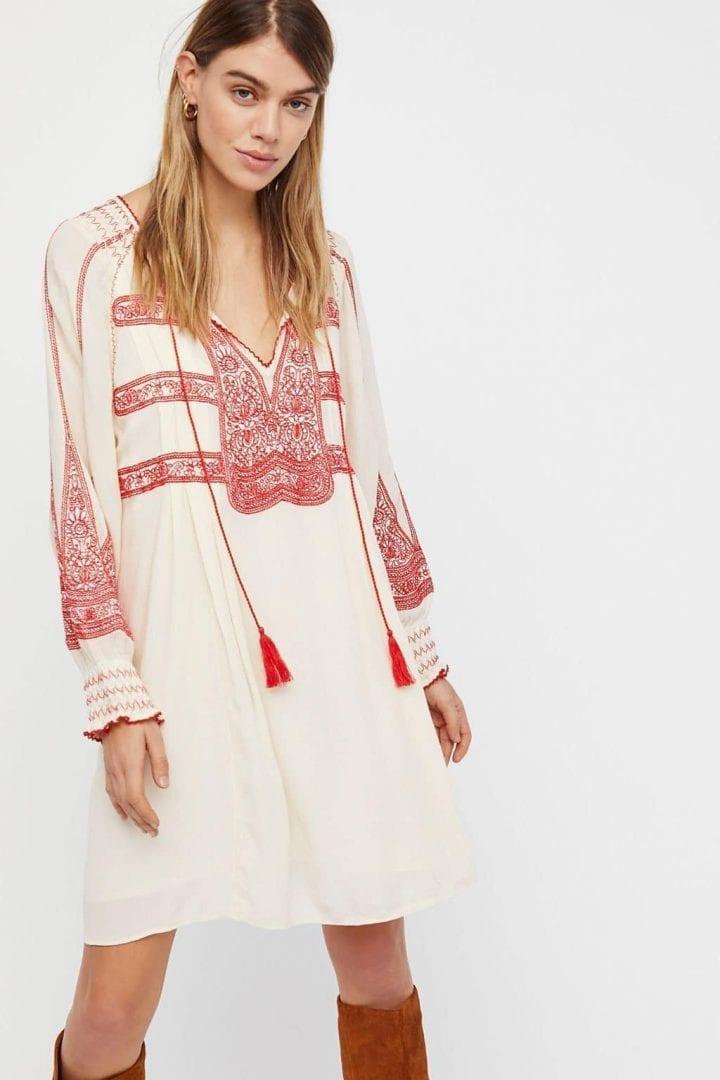 FREE PEOPLE Wind Willow Mini Cashmere Dress