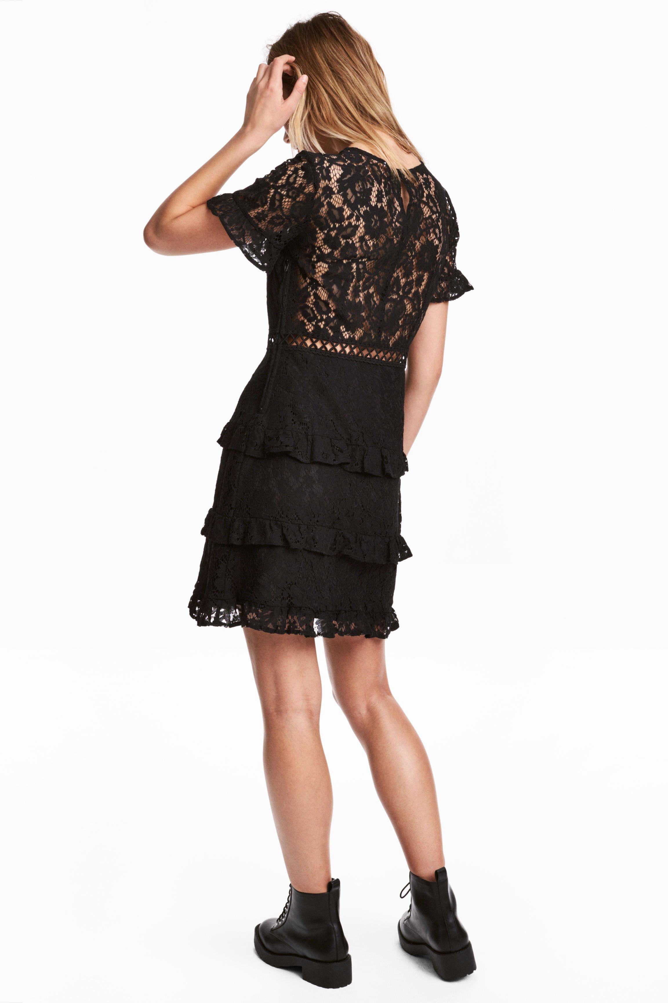 e5c94f47bd8f H & M Lace Black Dress - We Select Dresses