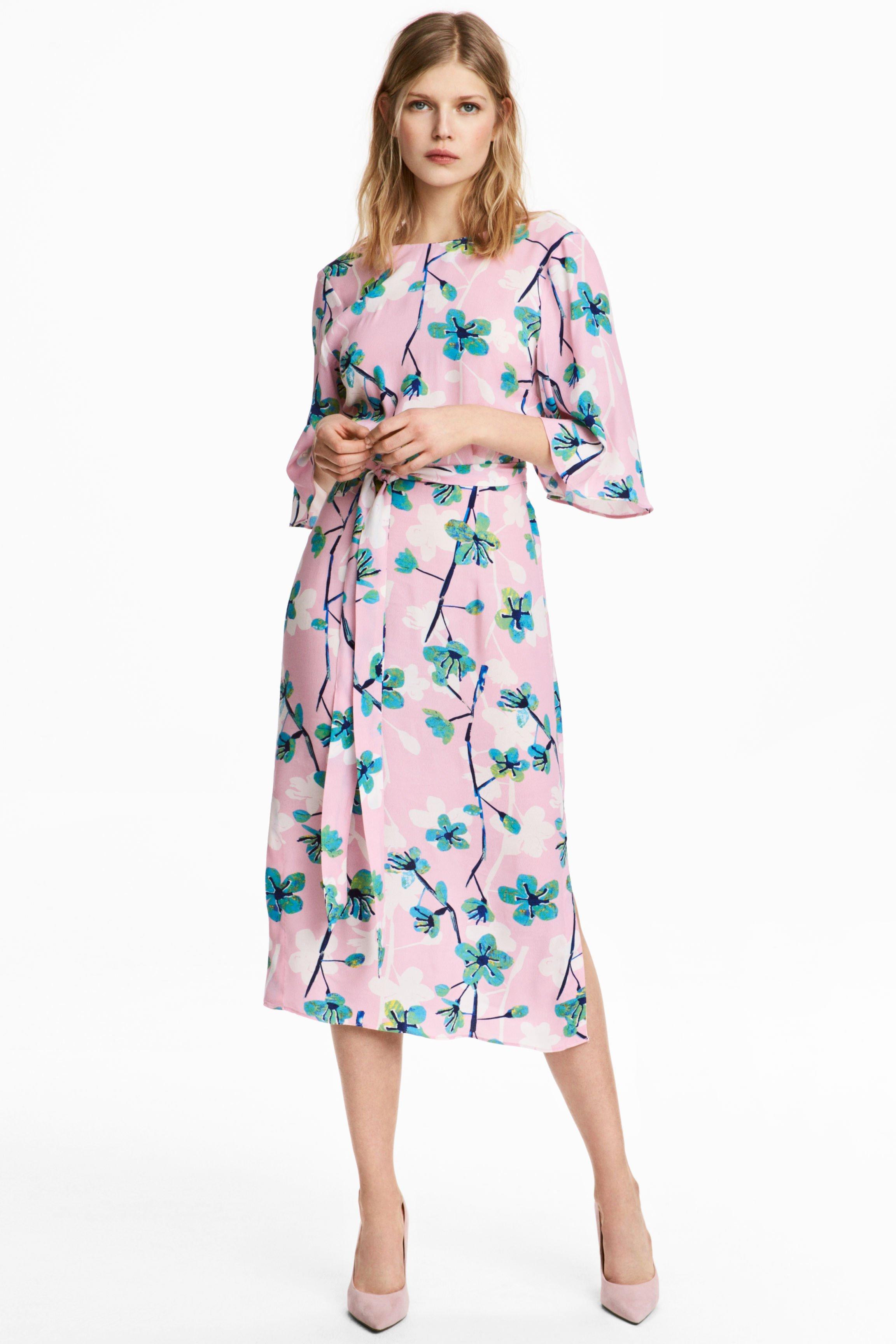 h amp m k floral printed light pink dress we select dresses