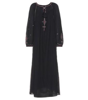 ISABEL MARANT, ÉTOILE Meadlon Embroidered Black Dress