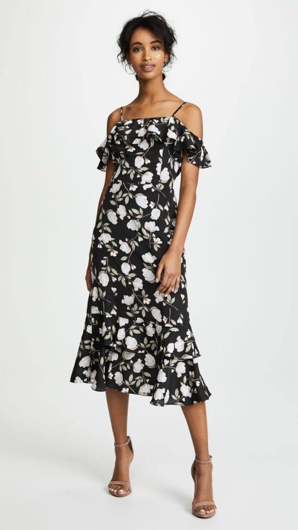 J.O.A. Floral Black / Floral Dress