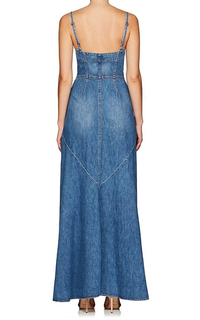 Jean Atelier Agnes Denim Maxi Blue Dress We Select Dresses