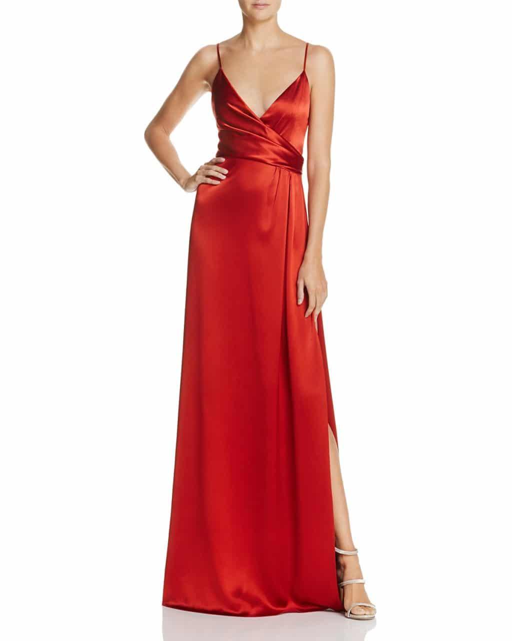 Jill Jill Stuart Crossover Slip Rust Orange Gown We Select Dresses