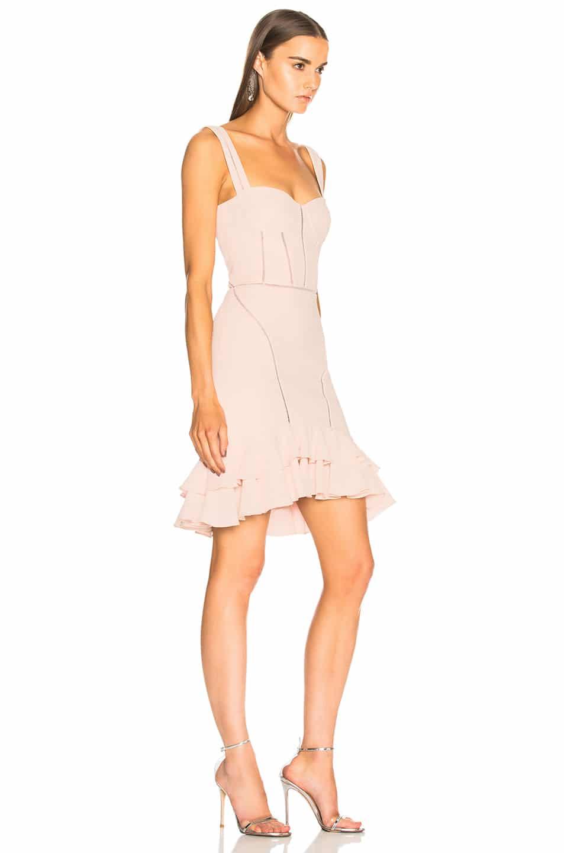 JONATHAN SIMKHAI Seersucker Bustier Mini Powder Pink Dress - We ...
