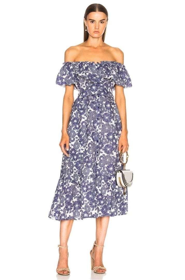 a1b3ecc023 LISA MARIE FERNANDEZ Mira Navy Blue / Floral Dress - We Select Dresses