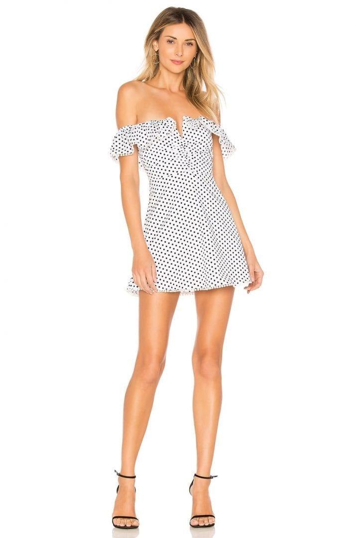 MAJORELLE Asher White Dress