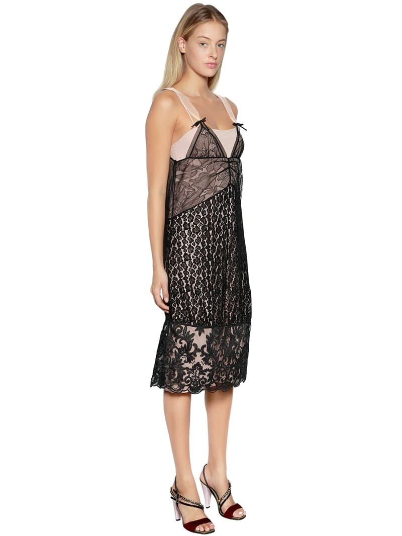 N°21 Two Tone Animalier Lace Black Dress