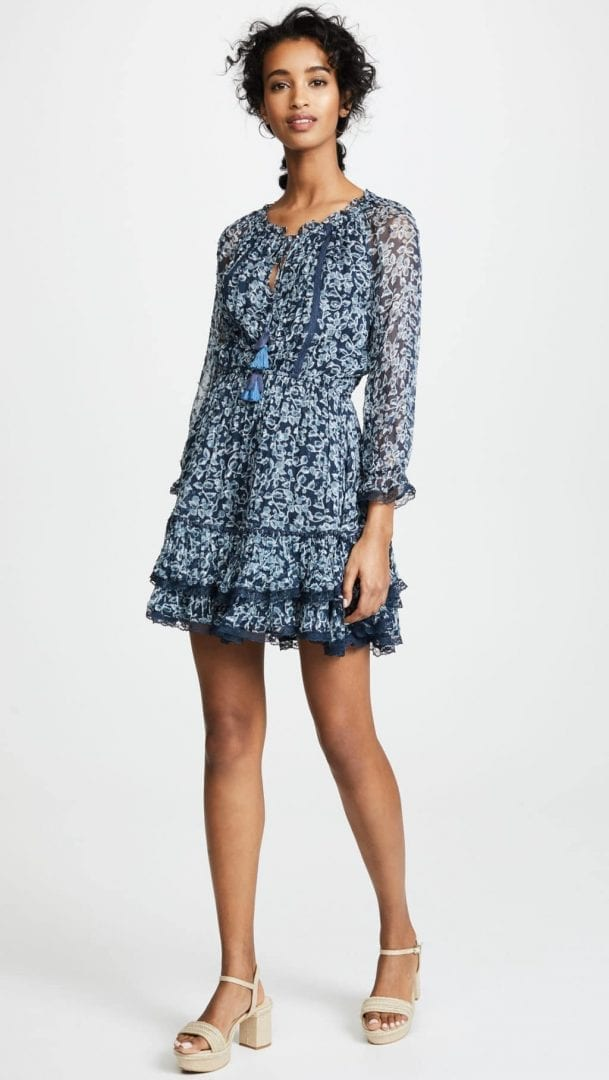 0a5e607735d0f RAHICALI Bluebell Lacey Bluebell / Printed Dress