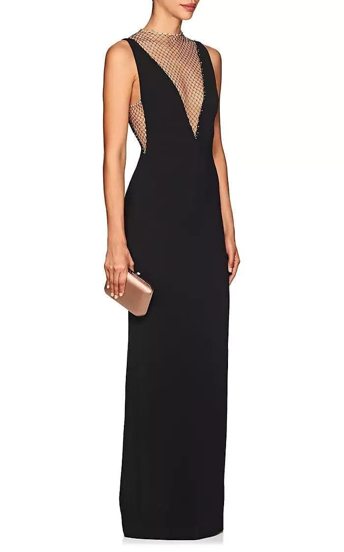 STELLA MCCARTNEY Naomi Embellished-Mesh Cady Black / Beige Gown - We ...