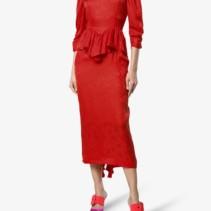 098db7c60d3 STELLA MCCARTNEY Silk Angela Leopard Red Dress - We Select Dresses
