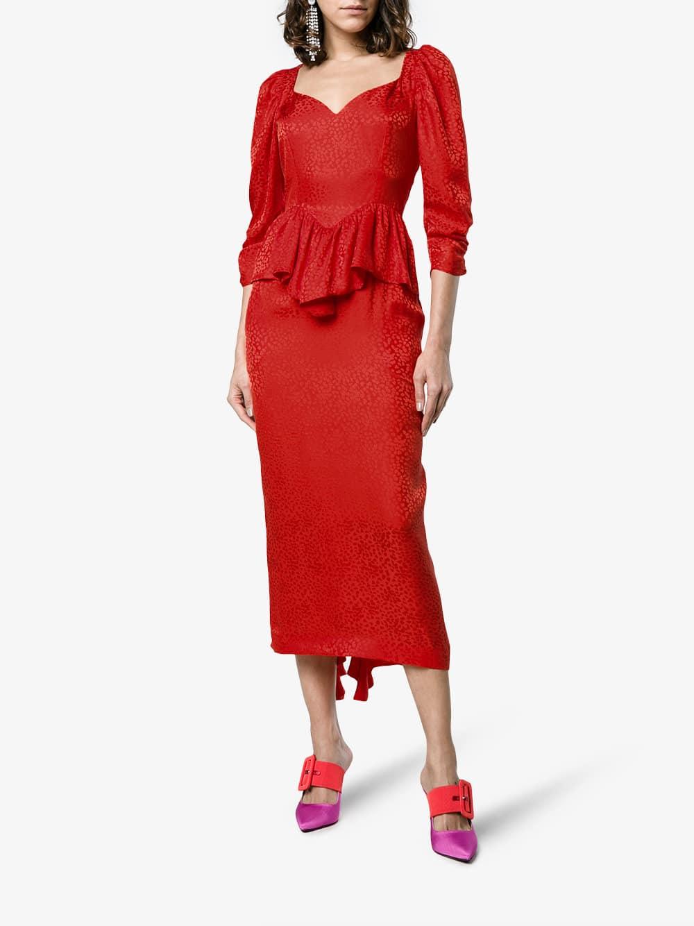0fa446f28c24d STELLA MCCARTNEY Silk Angela Leopard Red Dress - We Select Dresses