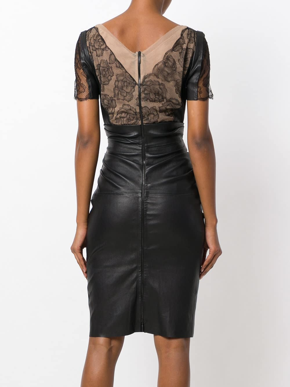 Talbot Runhof Ed Lace Bodice Black Dress