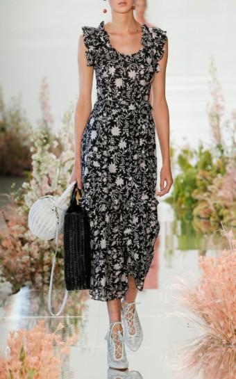 ULLA JOHNSON Gwyneth One Shoulder Eyelet Yellow Dress.  520. ULLA JOHNSON  Brigitte Floral Organza Black Dress 7c4001dd9