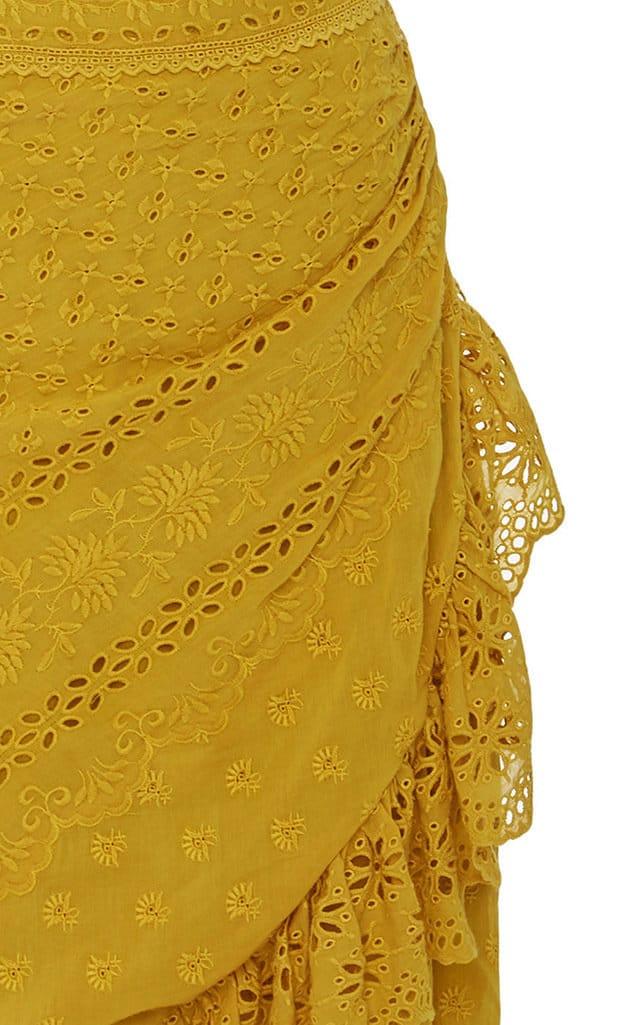 ULLA JOHNSON Gwyneth One Shoulder Eyelet Yellow Dress - We Select ... 9df34f7c4
