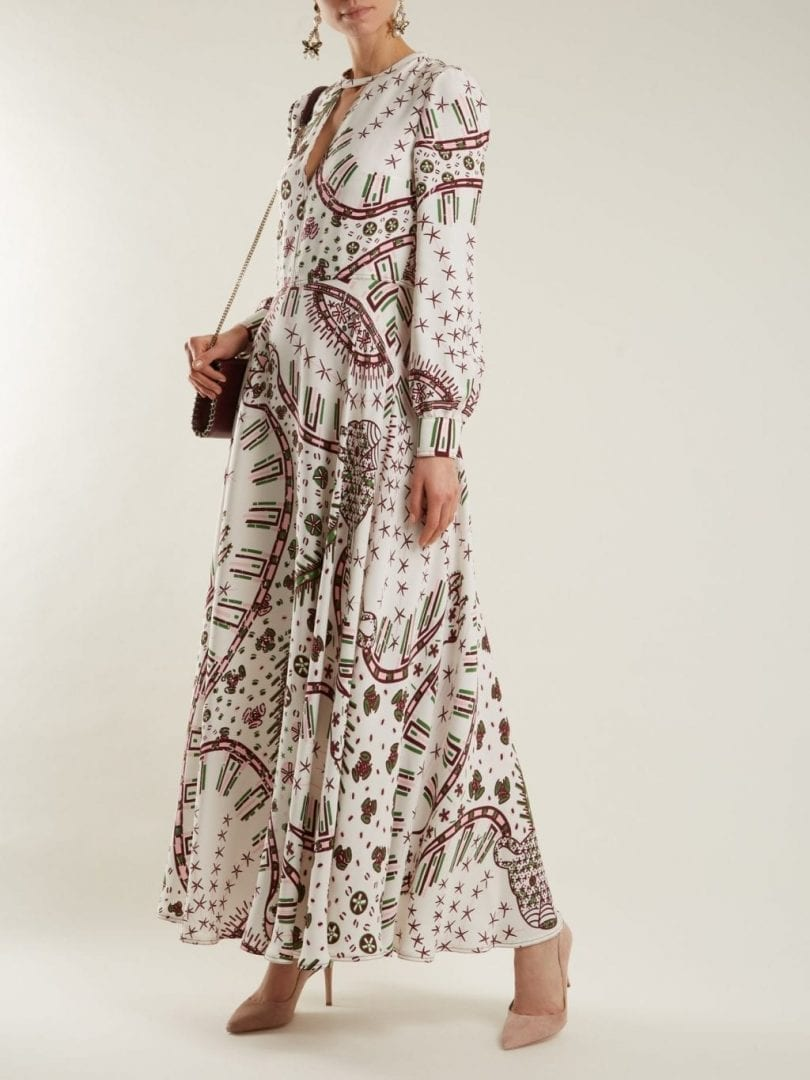 9ce5721391 VALENTINO Leopard Print Crepe White Dress - We Select Dresses