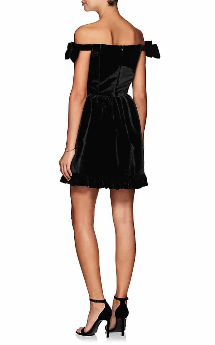 Vivetta Richmond Fit Flare Mini Black Dress We Select Dresses