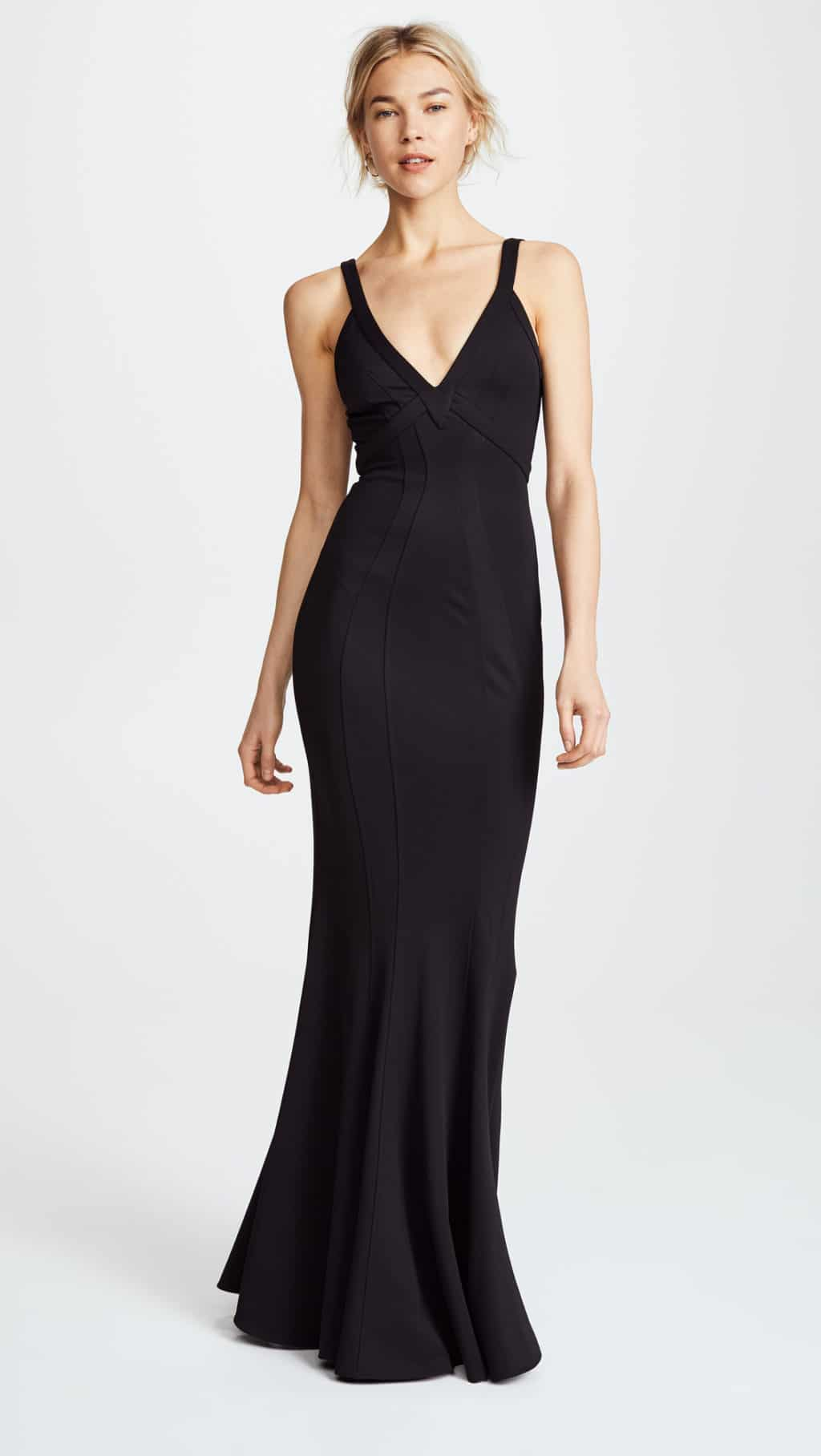 29ad4576655 ZAC ZAC POSEN Gemma Black Gown - We Select Dresses