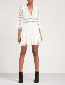 ZIMMERMANN Lovelorn Flutter Cotton-broderie Anglaise Mini Ivory Dress