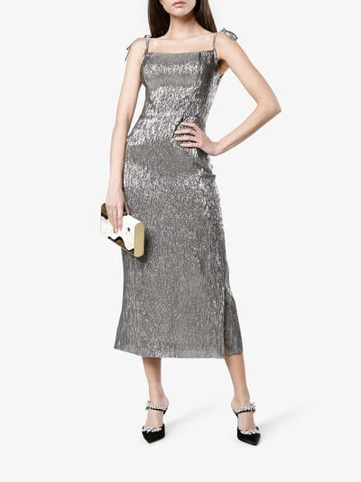 THE VAMPIRE'S WIFE Night Garden Silver Dress