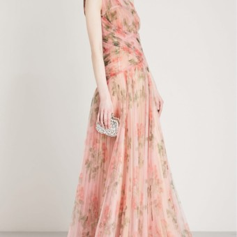 282b210d6b ALEXANDER MCQUEEN One Shoulder Pleated Organza Pink Gown - We Select ...