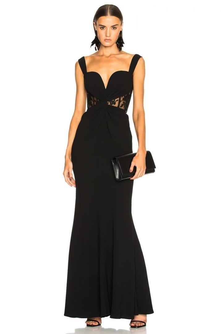 ALEXANDER MCQUEEN Sleeveless Bustier Black Gown - We Select Dresses