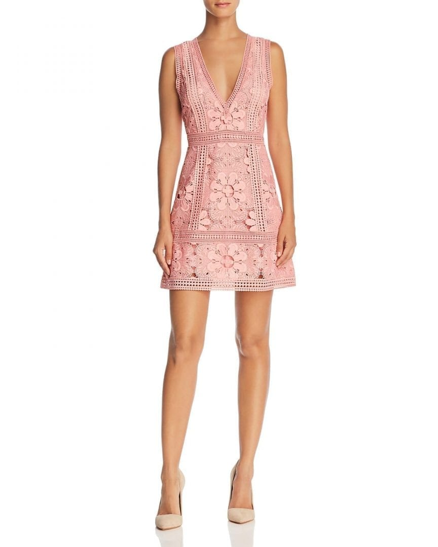 ALICE AND OLIVIA Zula Lace Blossom Pink Dress