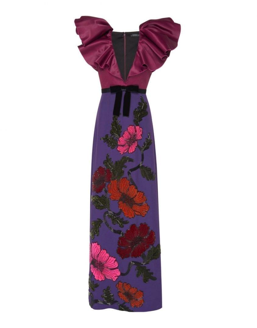 ANDREW GN Color Block Plum / Violet Dress
