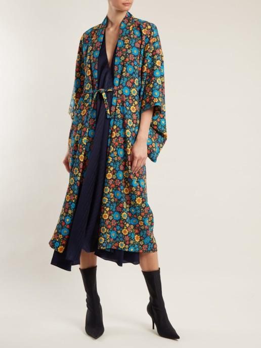 BALENCIAGA V-neck Multi / Floral Printed Dress