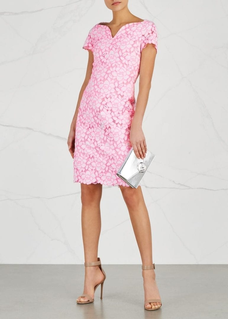 BOUTIQUE MOSCHINO Lace Pink / White Dress