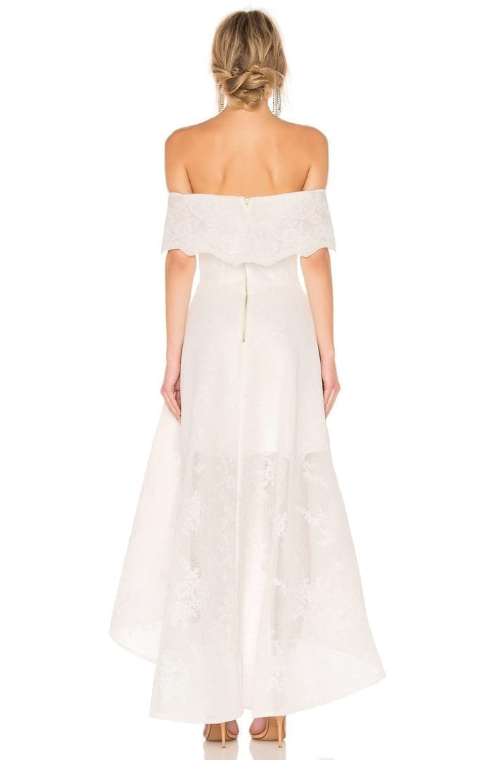 BRONX AND BANCO Tulip Lace White Gown - We Select Dresses