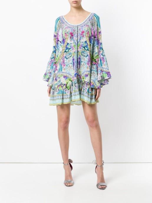 CAMILLA Floral Flared Multicoloured Dress