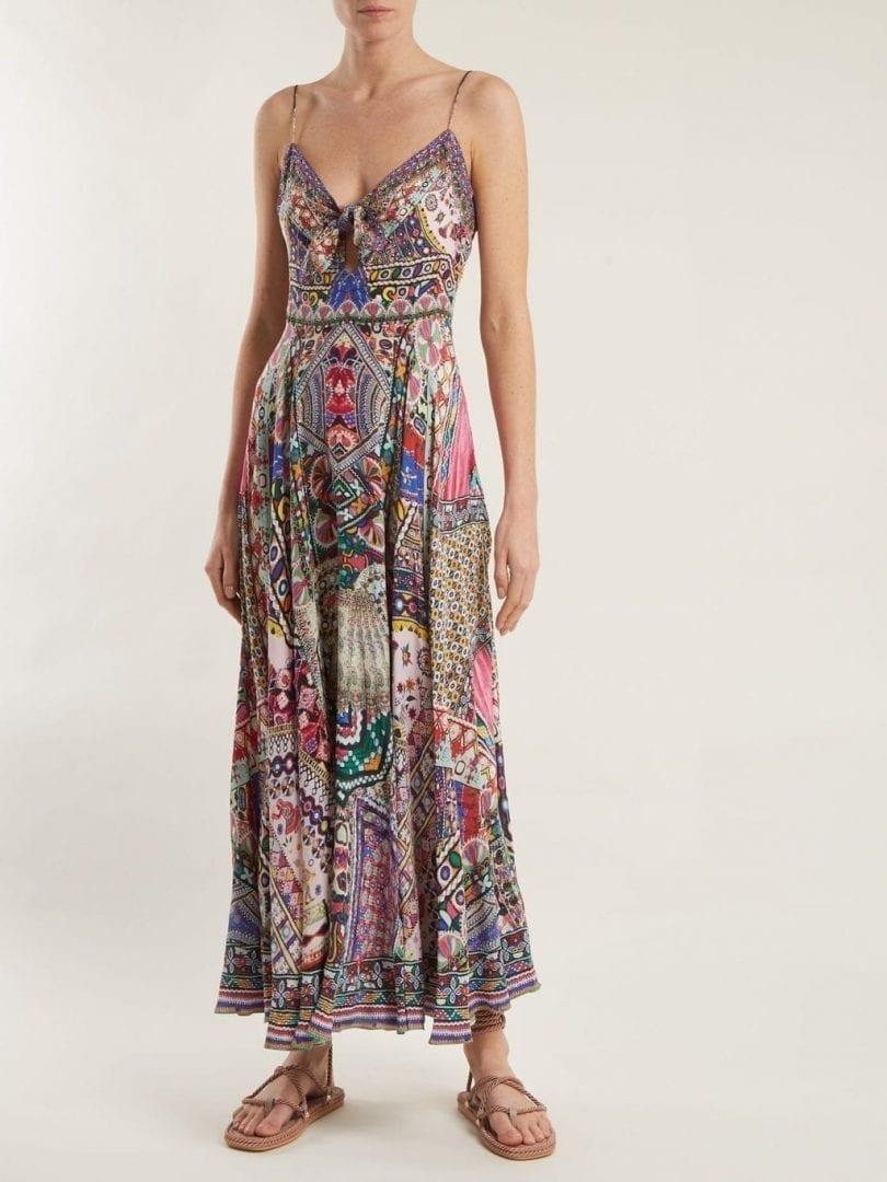 CAMILLA Kalbelia Queen Silk Multicoloured Dress