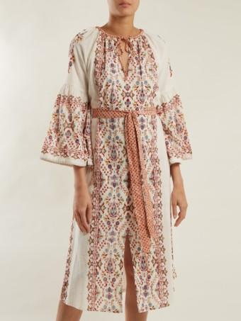 D'ASCOLI Anatolia Cotton Ivory / Floral Printed Dress