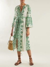 D'ASCOLI Viscaya Graphic Print Ivory Dress