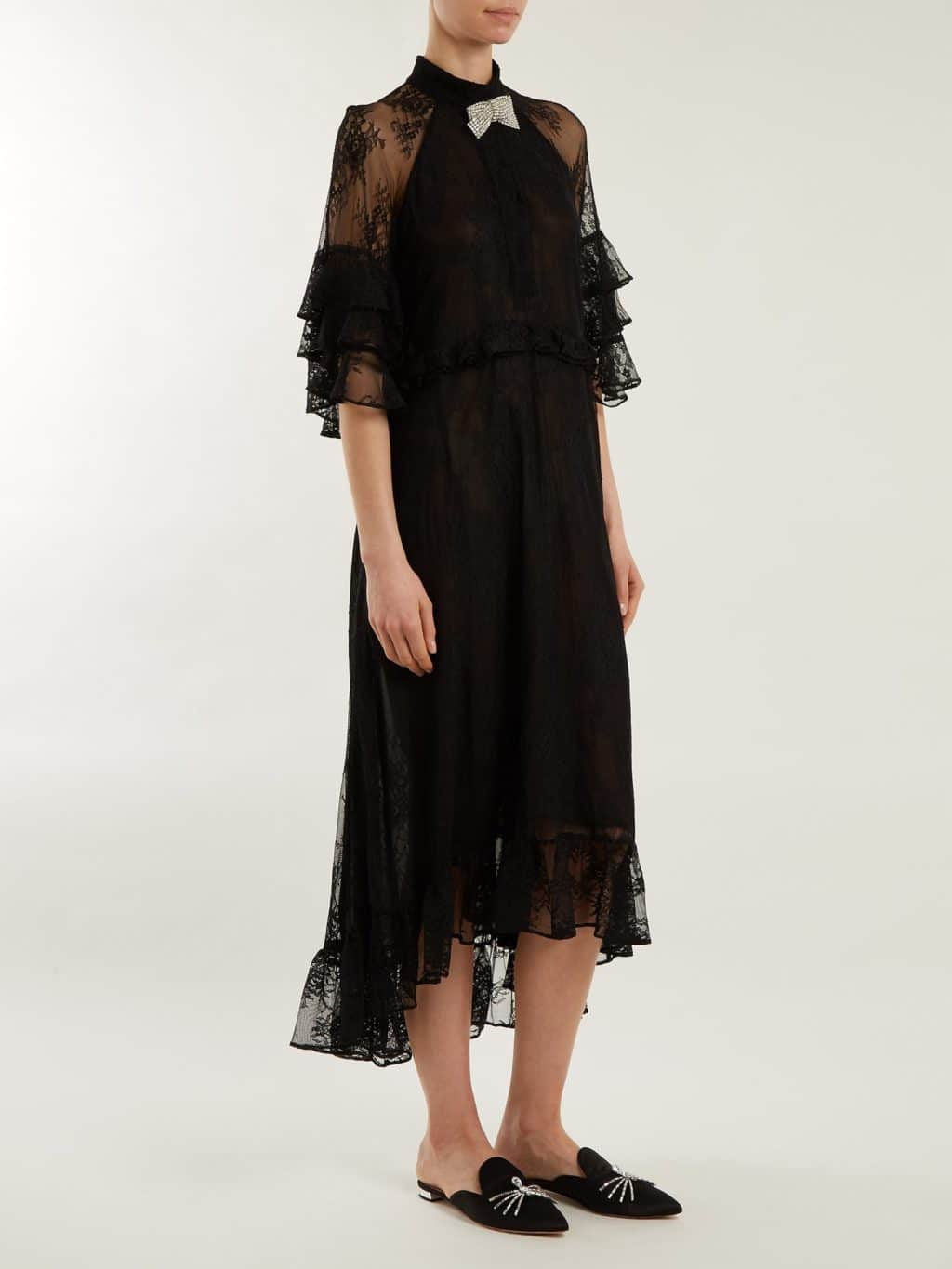 Dodo Bar Or Black Dress.Dodo Bar Or Rossano Ruffle Trimmed Lace Black Dress We Select Dresses