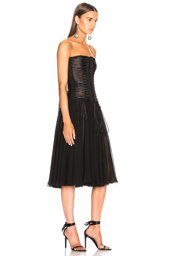 02405a0a DOLCE & GABBANA Corset Tank Black Dress - We Select Dresses