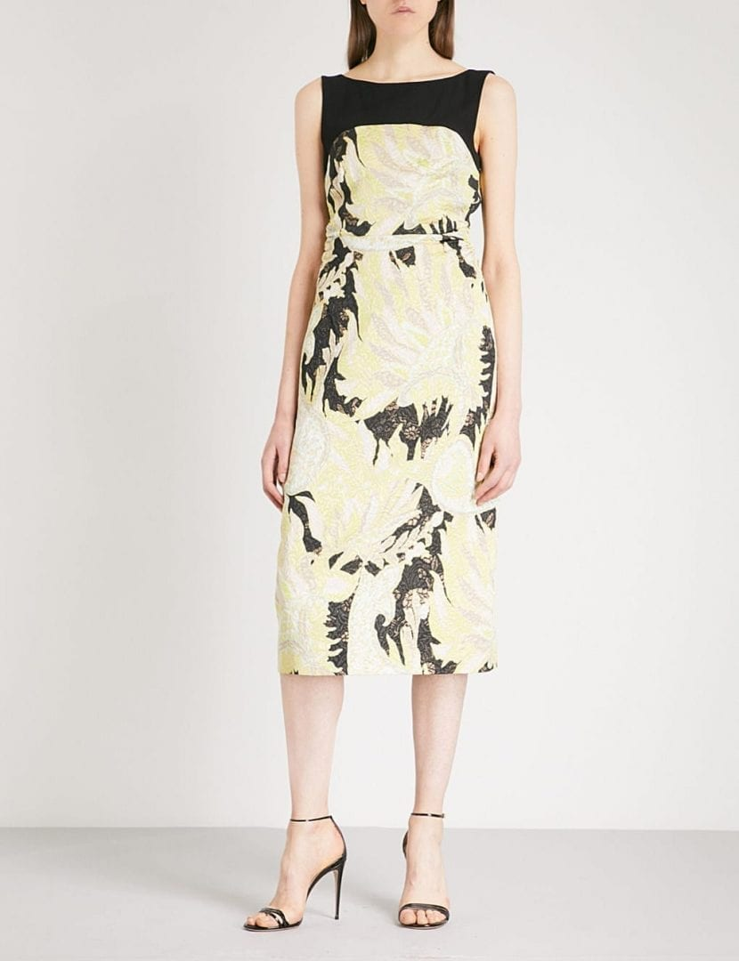 Dries Van Noten Delicia Jacquard Black Dress