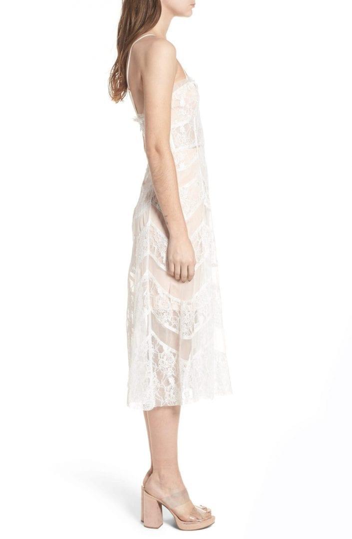 For Love Lemons La Bella Strapless Midi White Dress We Select
