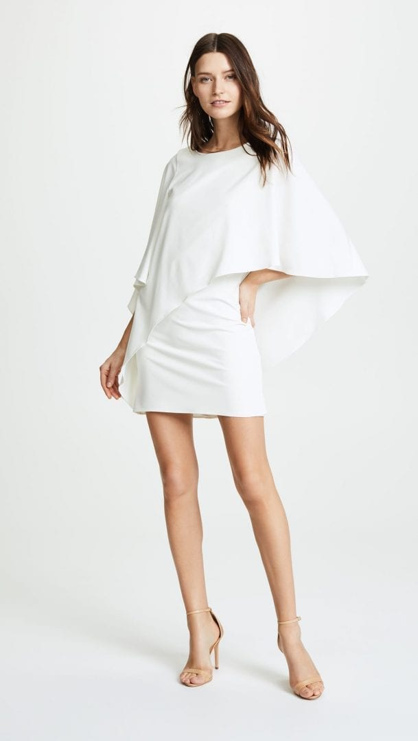 Halston Heritage D Chalk Dress