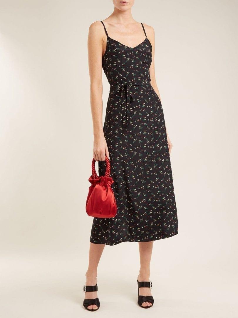 5769b4dd859 HVN Josephine Silk Slip Black   Floral Printed Dress - We Select Dresses