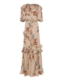 JOHANNA ORTIZ Georgette Queen Of Sheeba Rose Dress