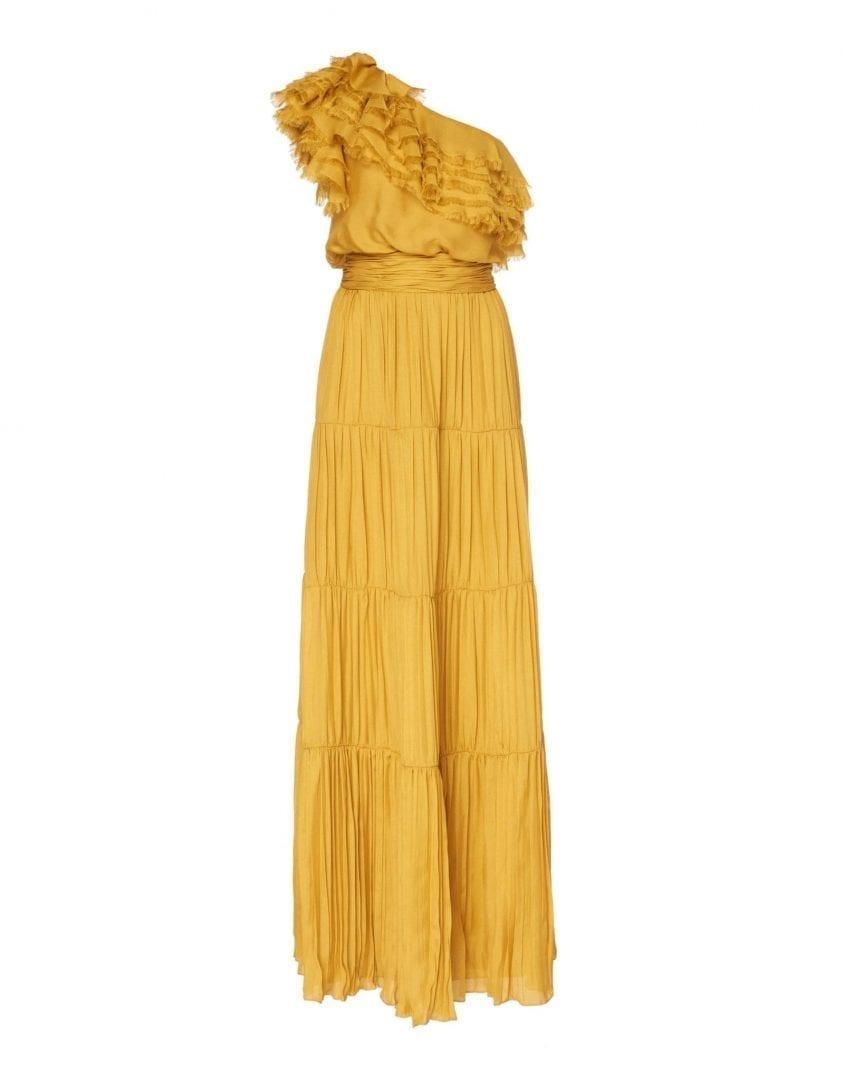 JOHANNA ORTIZ Silk Mesh Daydream Marigold Dress