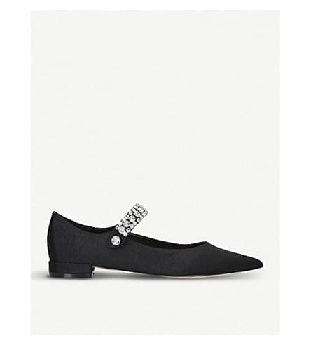 KURT GEIGER LONDON Kingly Gemstone Strap Pointed Flats