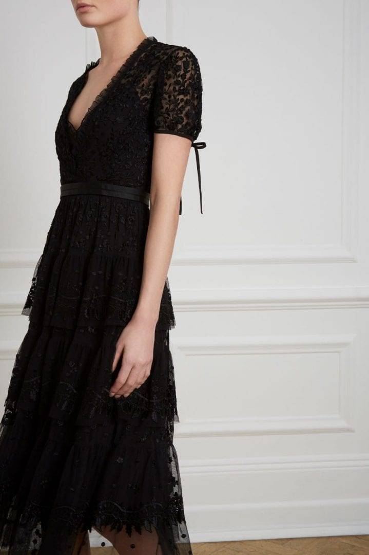 LAYERED Lace Black Dress