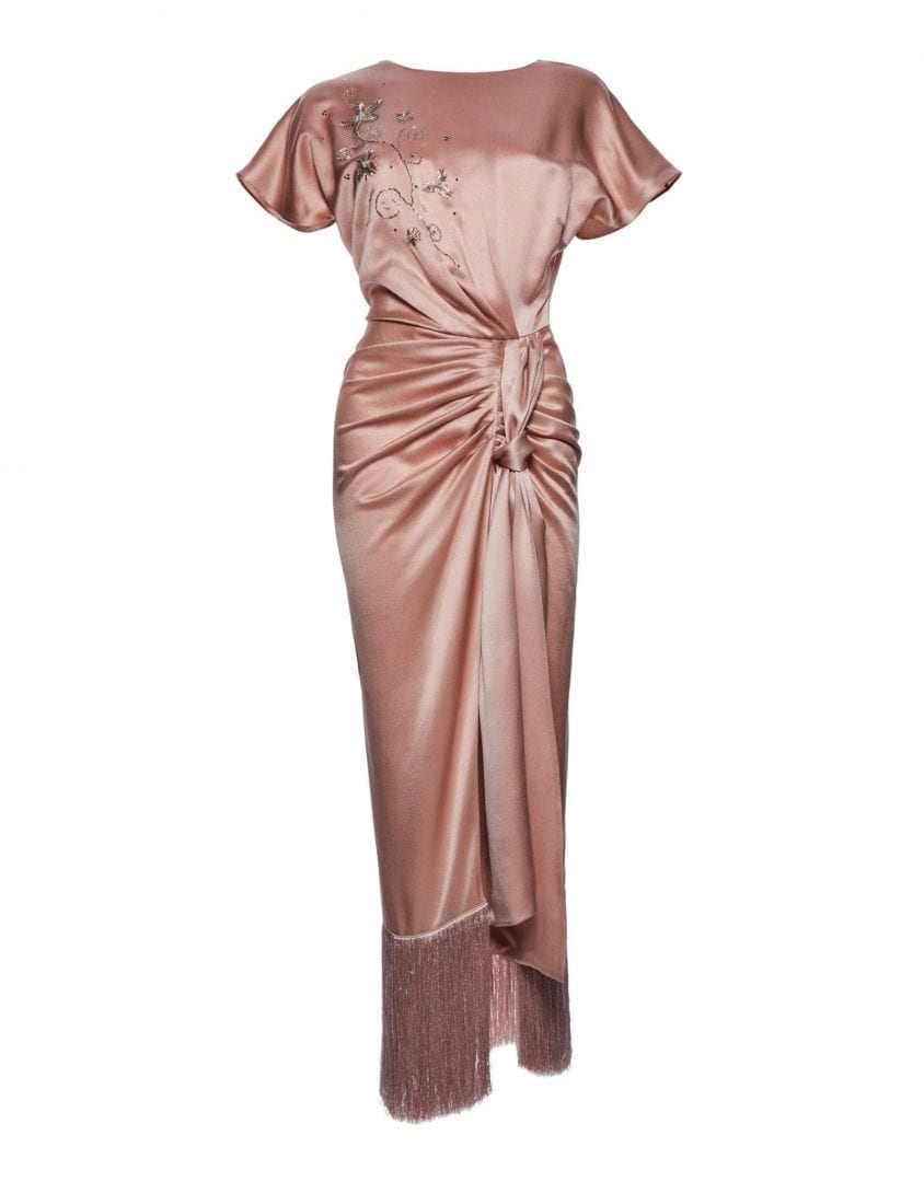 efda57f0c4a2 MAGDA BUTRYM Juno Embroidered Pink Dress - We Select Dresses