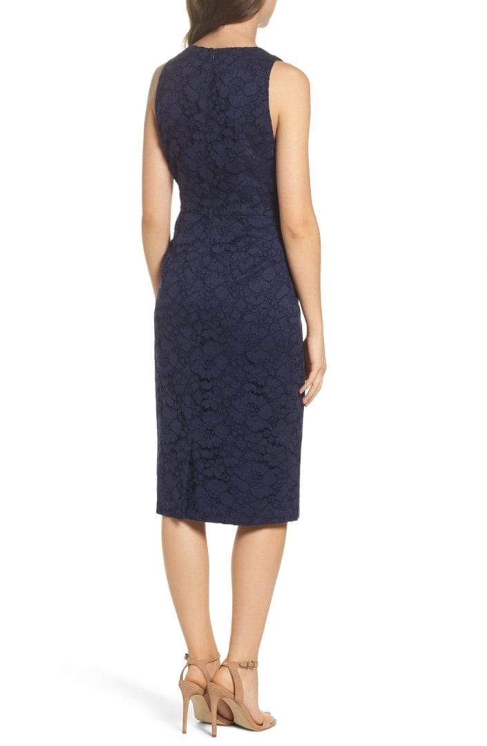 Maggy London Floral Lace Midi Navy Blue Dress We Select Dresses